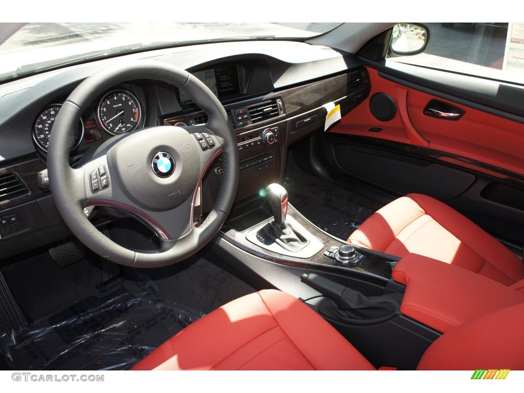 Coral Red Black Interior 2012 Bmw 3 Series 328i Coupe Photo 67803366