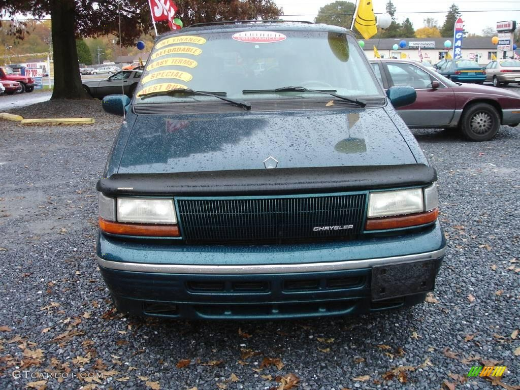 1995 town country emerald green pearl metallic beige photo 2