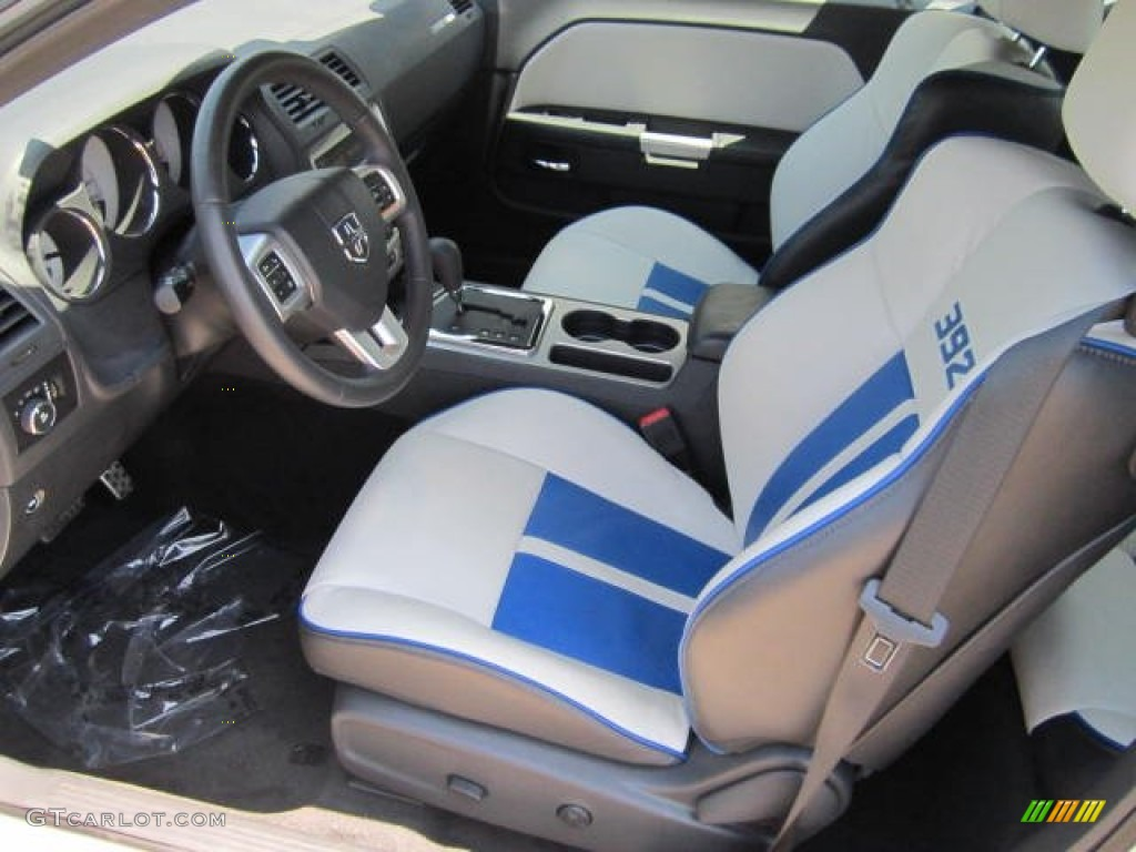 Pearl White Blue Interior 2011 Dodge Challenger Srt8 392 Inaugural Edition Photo 67828497