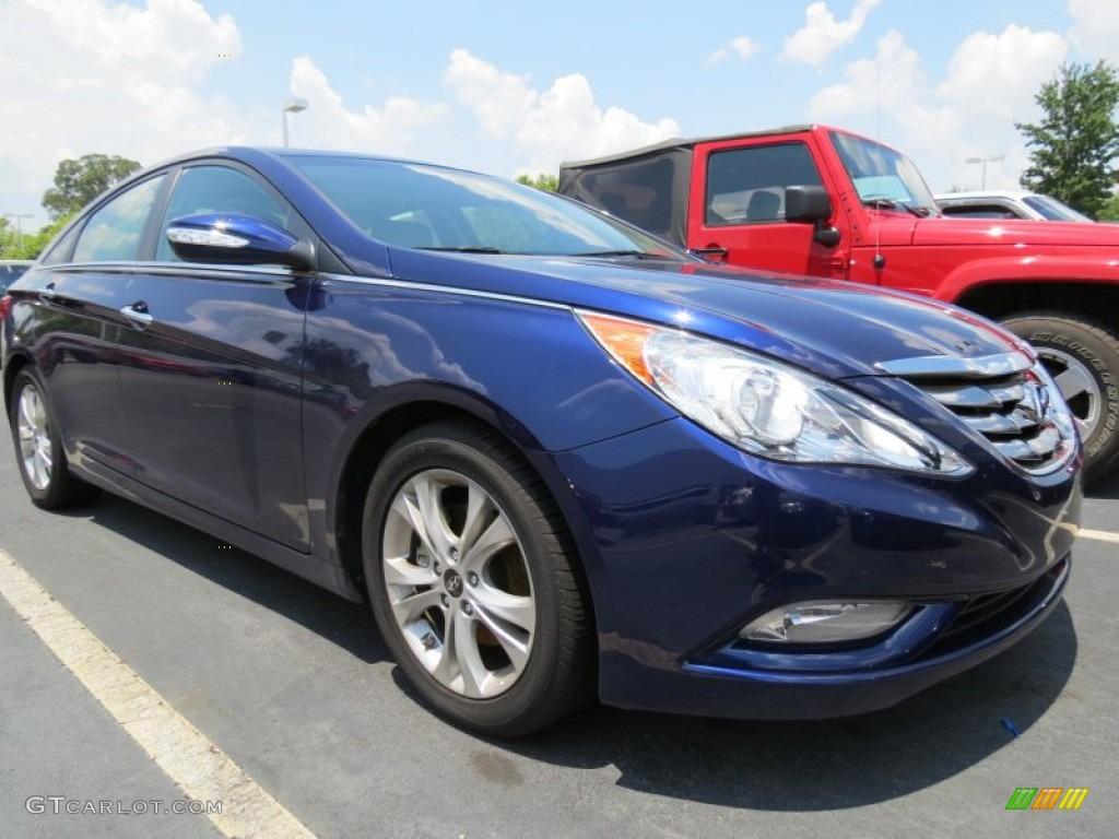 Indigo Blue Pearl 2011 Hyundai Sonata Limited Exterior