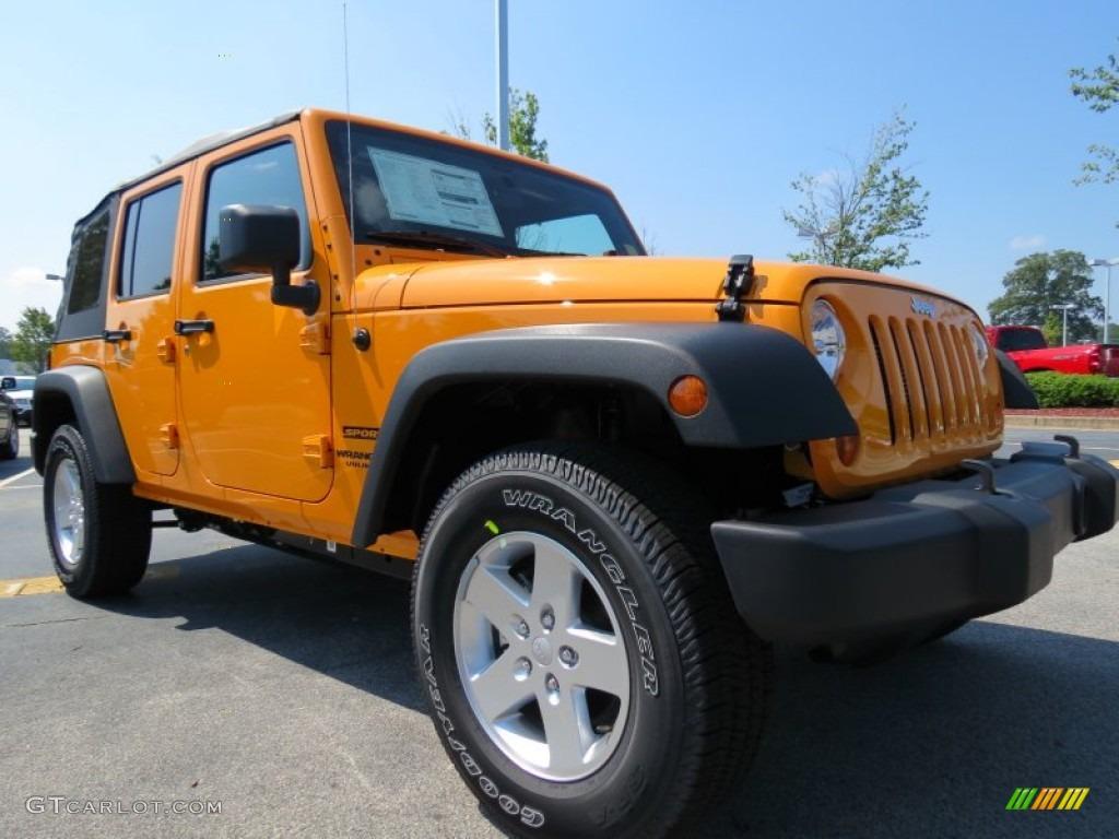 Dozer Yellow 2012 Jeep Wrangler Unlimited Sport S 4x4 ...