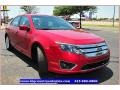 2011 Red Candy Metallic Ford Fusion SEL V6  photo #10