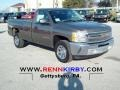 2012 Mocha Steel Metallic Chevrolet Silverado 1500 Work Truck Regular Cab  photo #1