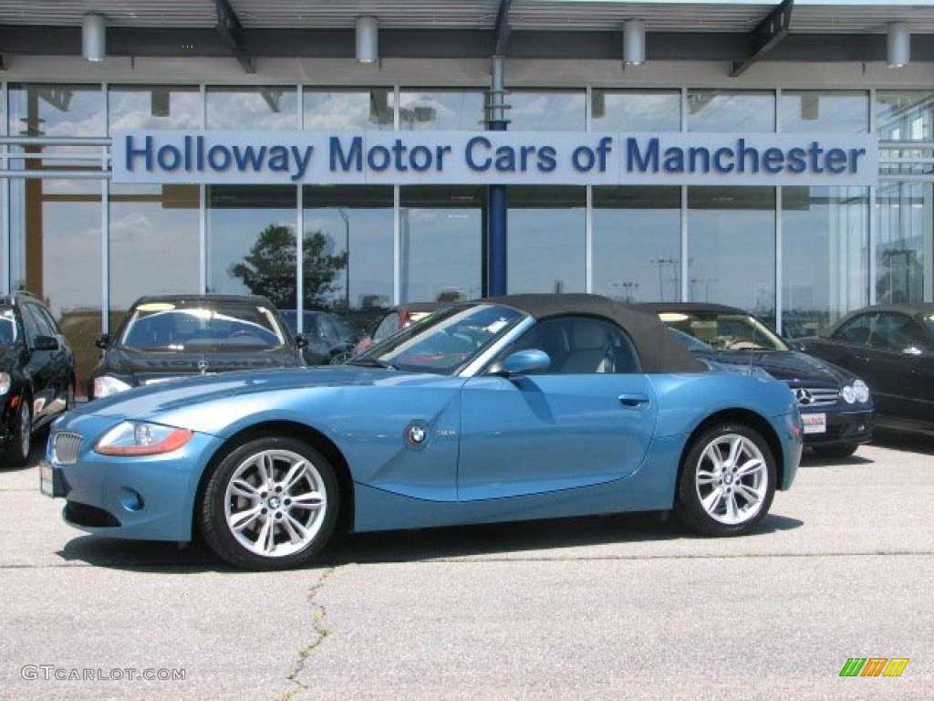2003 Maldives Blue Metallic Bmw Z4 3 0i Roadster 67845526