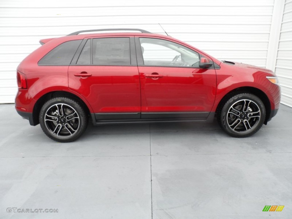 Ruby Red 2013 Ford Edge Sel Ecoboost Exterior Photo