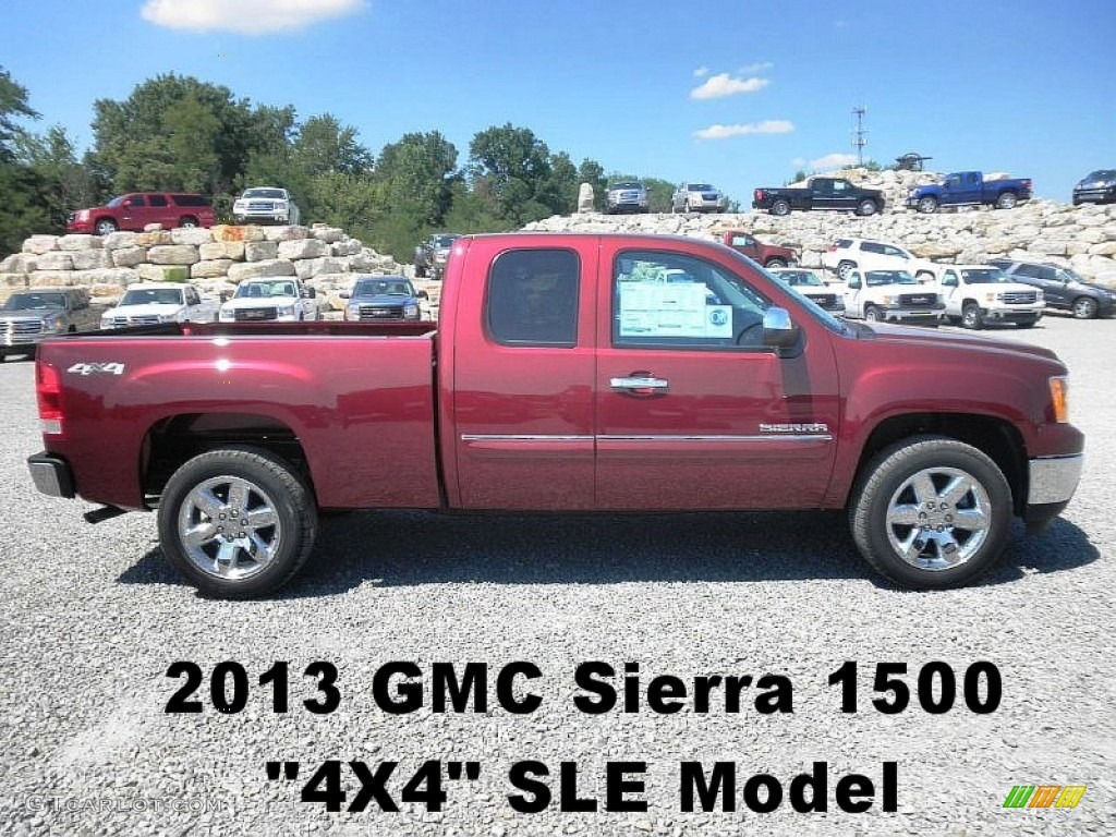 2013 sonoma red metallic gmc sierra 1500 sle extended cab 4x4 67845802 car. Black Bedroom Furniture Sets. Home Design Ideas
