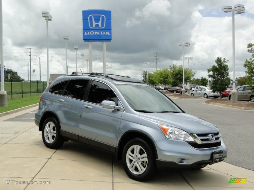 2011 CR-V EX-L 4WD - Glacier Blue Metallic / Gray photo #2