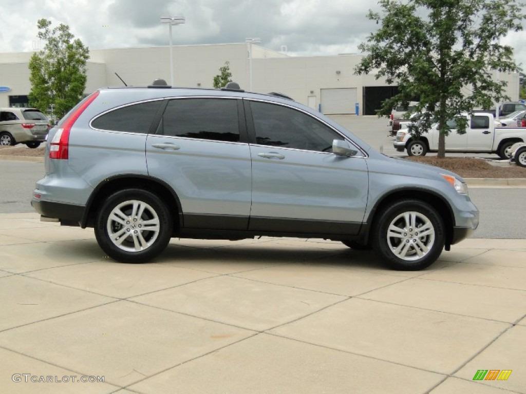2011 CR-V EX-L 4WD - Glacier Blue Metallic / Gray photo #4