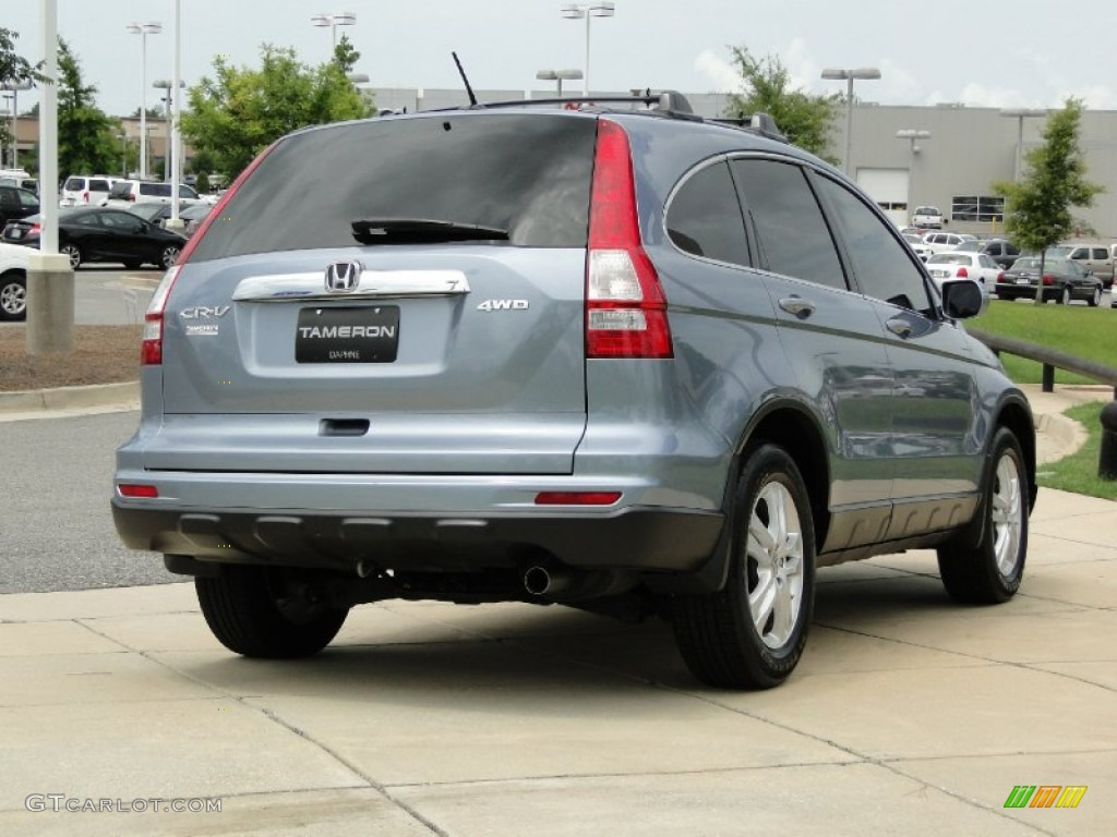 2011 CR-V EX-L 4WD - Glacier Blue Metallic / Gray photo #5