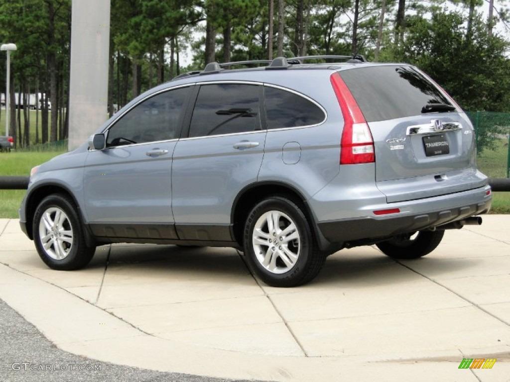 2011 CR-V EX-L 4WD - Glacier Blue Metallic / Gray photo #6
