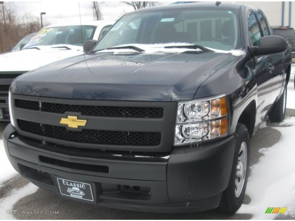 2011 Silverado 1500 Extended Cab - Imperial Blue Metallic / Dark Titanium photo #1