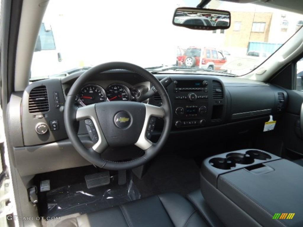 Ebony Interior 2013 Chevrolet Silverado 1500 LT Crew Cab 4x4 Photo #67907234 | GTCarLot.com