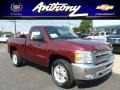 2013 Deep Ruby Metallic Chevrolet Silverado 1500 LT Regular Cab 4x4  photo #1