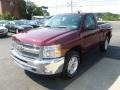2013 Deep Ruby Metallic Chevrolet Silverado 1500 LT Regular Cab 4x4  photo #3
