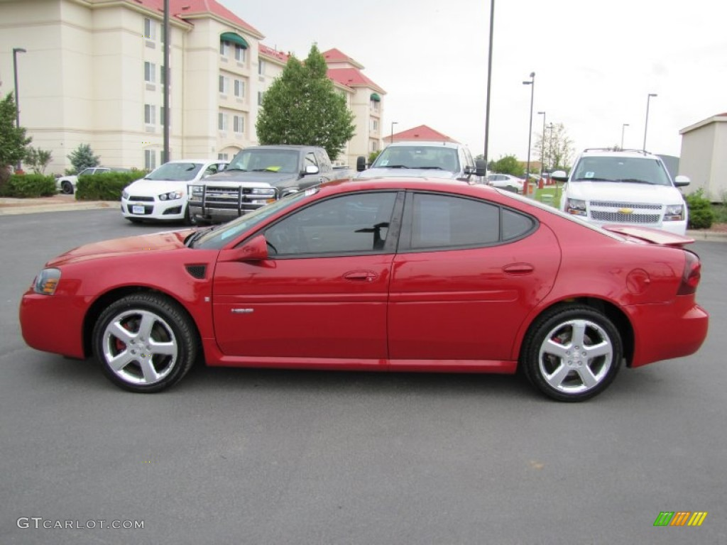 Crimson Red 2008 Pontiac Grand Prix Gxp Sedan Exterior