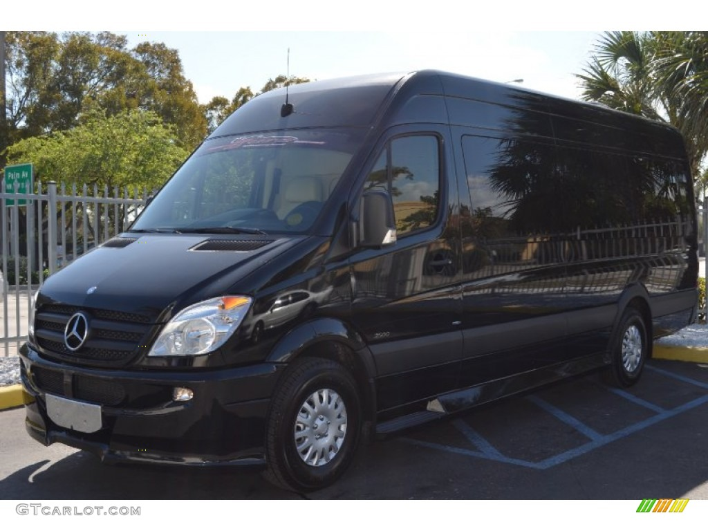 Black 2010 mercedes benz sprinter 2500 high roof limousine for 2010 mercedes benz 2500