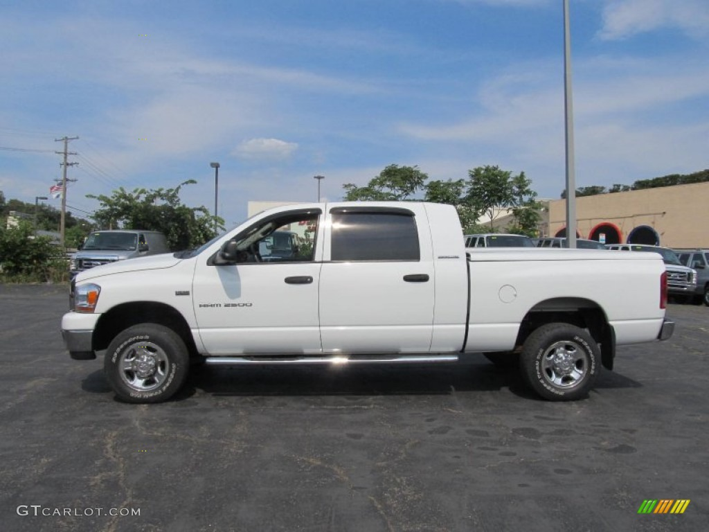 bright white 2006 dodge ram 2500 laramie mega cab 4x4. Black Bedroom Furniture Sets. Home Design Ideas