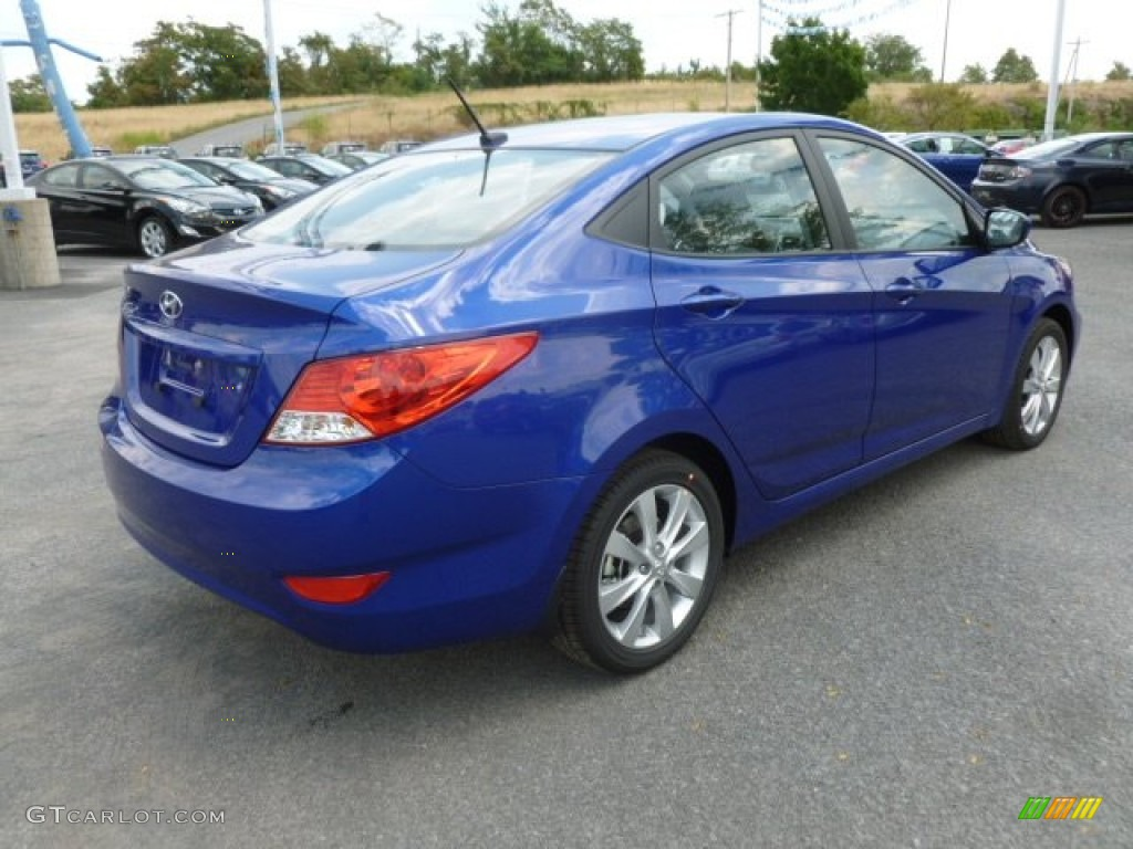 Marathon Blue 2013 Hyundai Accent Gls 4 Door Exterior Photo 67940741 Gtcarlot Com