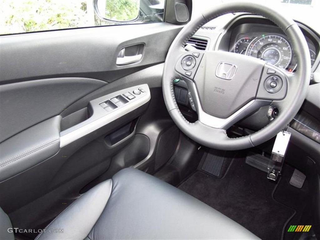 2012 Honda CR-V EX-L 4WD Black Steering Wheel Photo #67944635