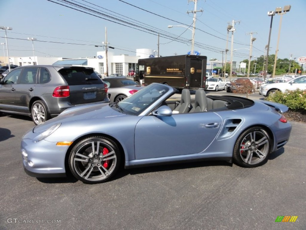 2011 Ice Blue Metallic Porsche 911 Turbo Cabriolet #67900729 Photo