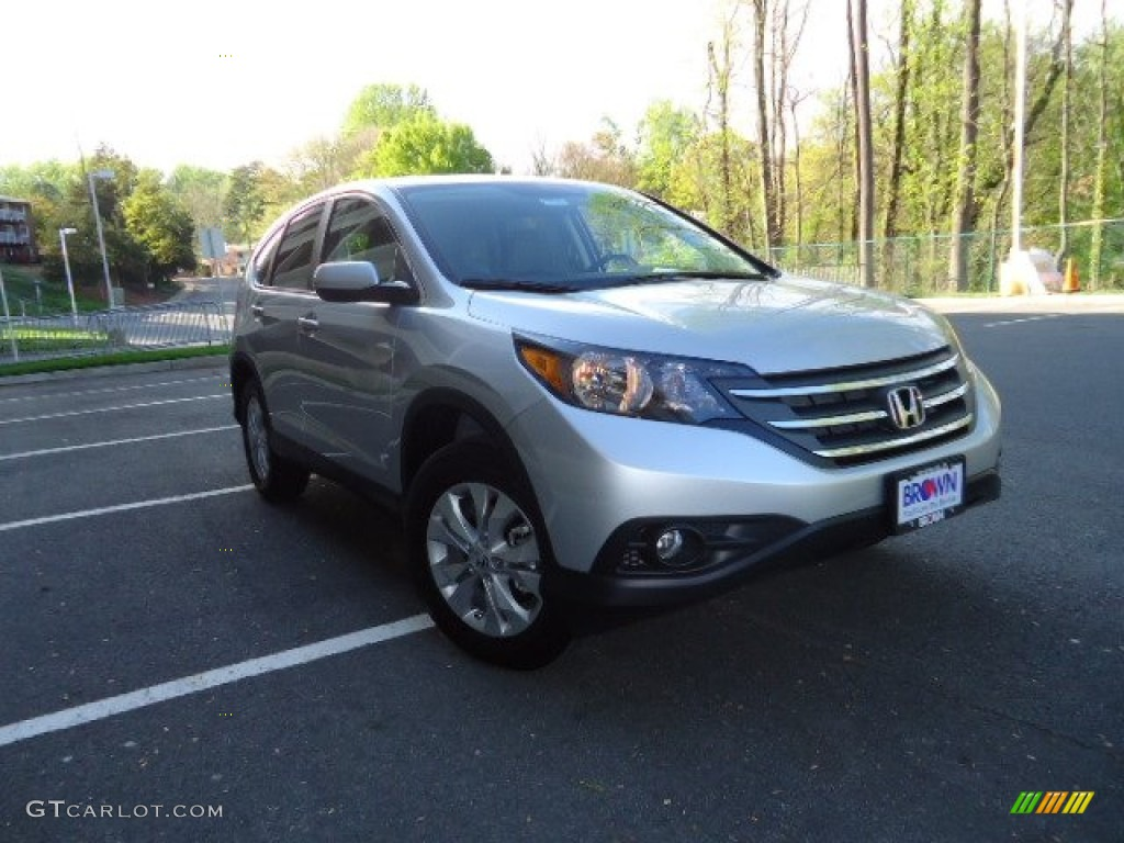 2012 CR-V EX 4WD - Alabaster Silver Metallic / Gray photo #1