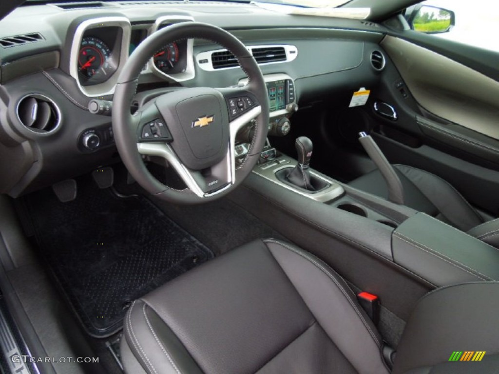 Black Interior 2013 Chevrolet Camaro Ss Coupe Photo