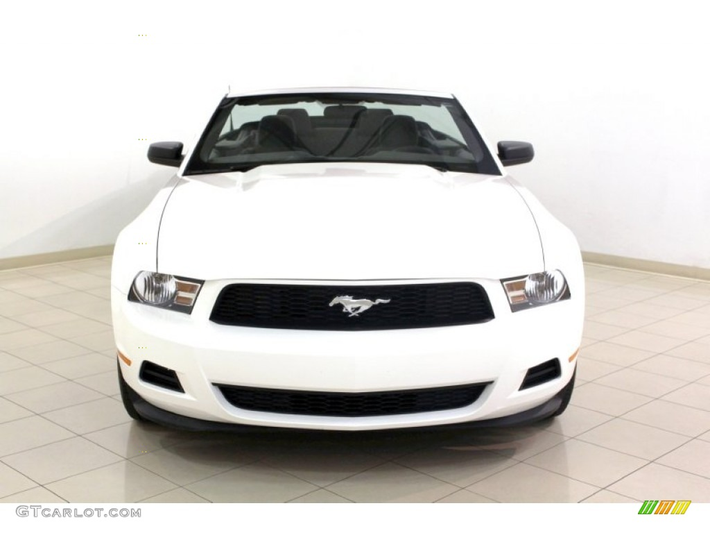 performance white 2012 ford mustang v6 convertible exterior photo 67960289 - Mustang 2012 White