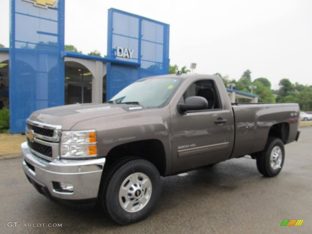 2013 Mocha Steel Metallic Chevrolet Silverado 2500HD LT Regular Cab