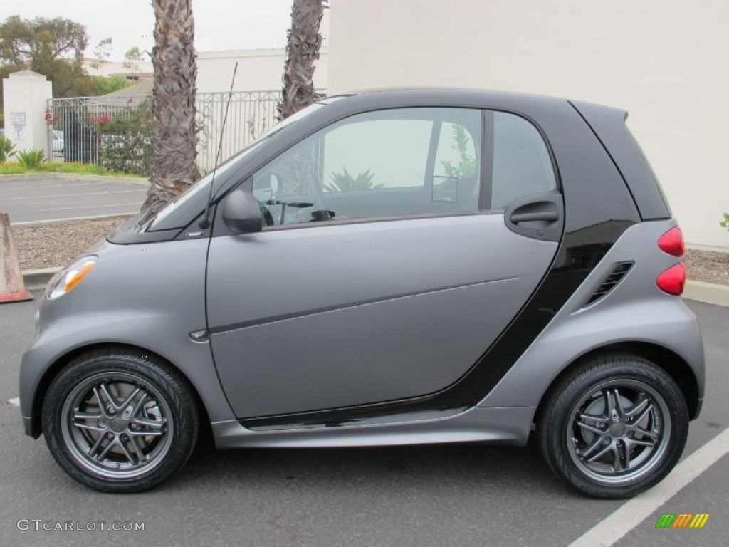Grey Matte 2013 Smart Fortwo Passion Coupe Exterior Photo