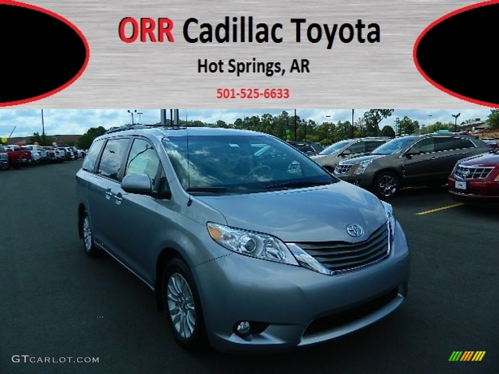 2012 Sienna XLE - Silver Sky Metallic / Light Gray photo #1