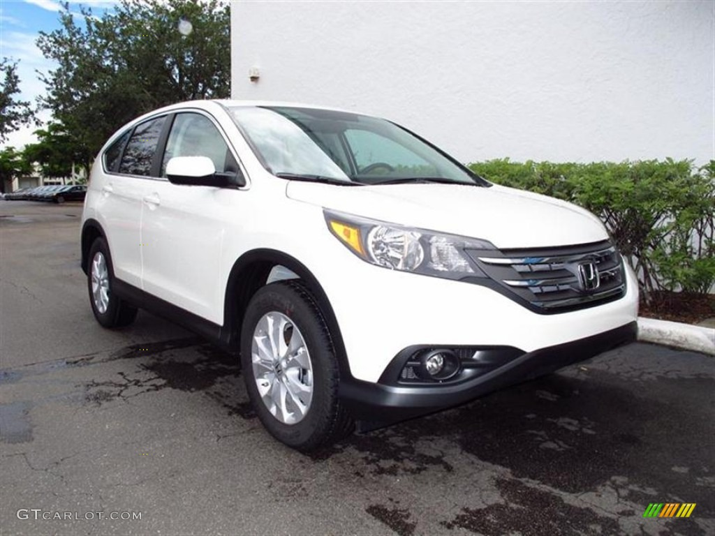 2012 CR-V EX - White Diamond Pearl / Beige photo #1