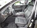 Black 2012 BMW 7 Series Interiors