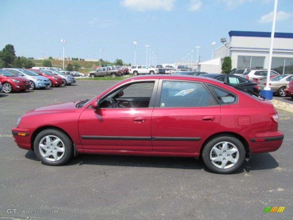 Amazing Electric Red Metallic 2005 Hyundai Elantra GLS Hatchback Exterior Photo  #68006099
