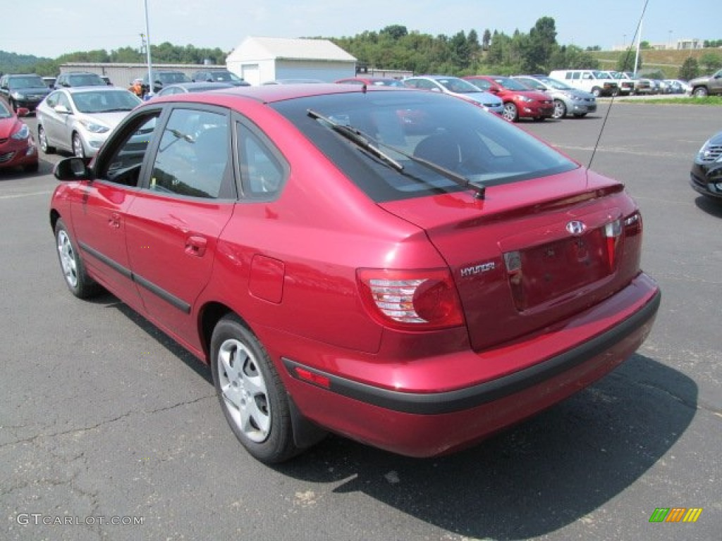 Electric Red Metallic 2005 Hyundai Elantra GLS Hatchback Exterior Photo  #68006108