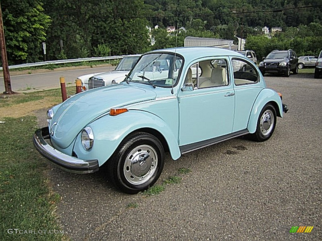 marina blue 1974 volkswagen beetle coupe exterior photo. Black Bedroom Furniture Sets. Home Design Ideas