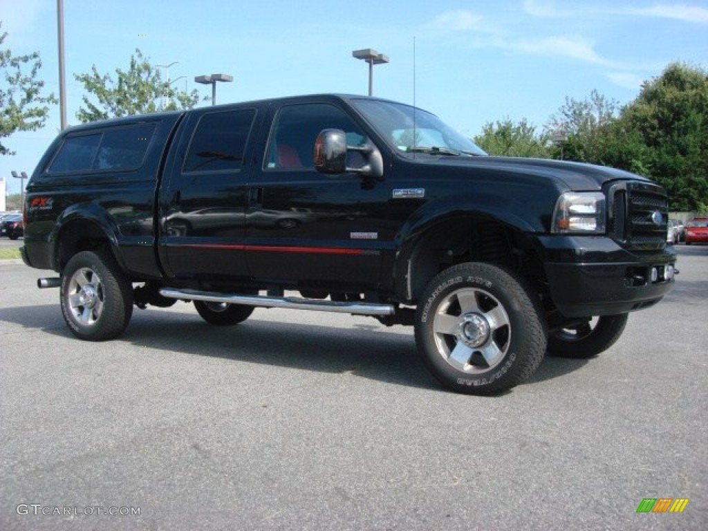black 2007 ford f350 super duty lariat outlaw crew cab 4x4. Black Bedroom Furniture Sets. Home Design Ideas