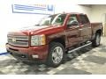 2013 Deep Ruby Metallic Chevrolet Silverado 1500 LTZ Crew Cab 4x4  photo #2