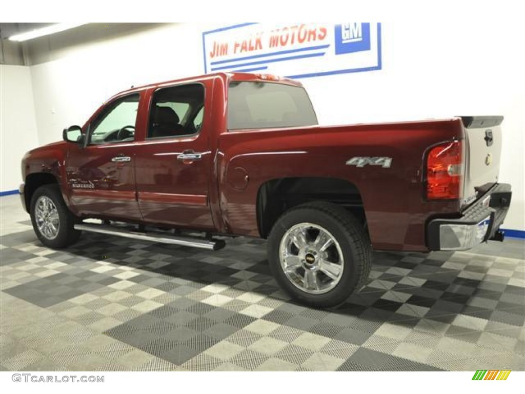 2013 Silverado 1500 LTZ Crew Cab 4x4 - Deep Ruby Metallic / Light Cashmere/Dark Cashmere photo #4