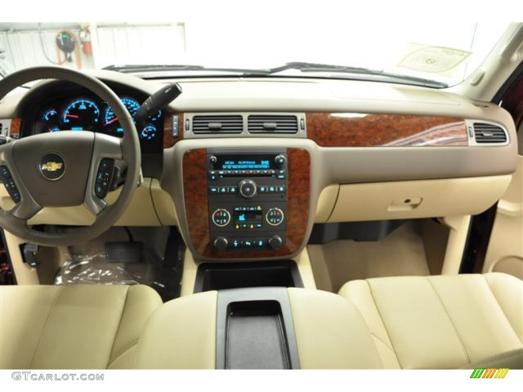 2013 Silverado 1500 LTZ Crew Cab 4x4 - Deep Ruby Metallic / Light Cashmere/Dark Cashmere photo #14