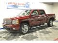 2013 Deep Ruby Metallic Chevrolet Silverado 1500 LTZ Crew Cab 4x4  photo #27