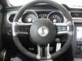2011 Ford Mustang Charcoal Black/Red Interior Steering Wheel Photo