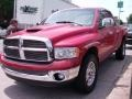 2002 Flame Red Dodge Ram 1500 SLT Quad Cab 4x4  photo #2