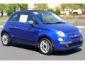 Azzurro (Blue) 2012 Fiat 500 c cabrio Lounge