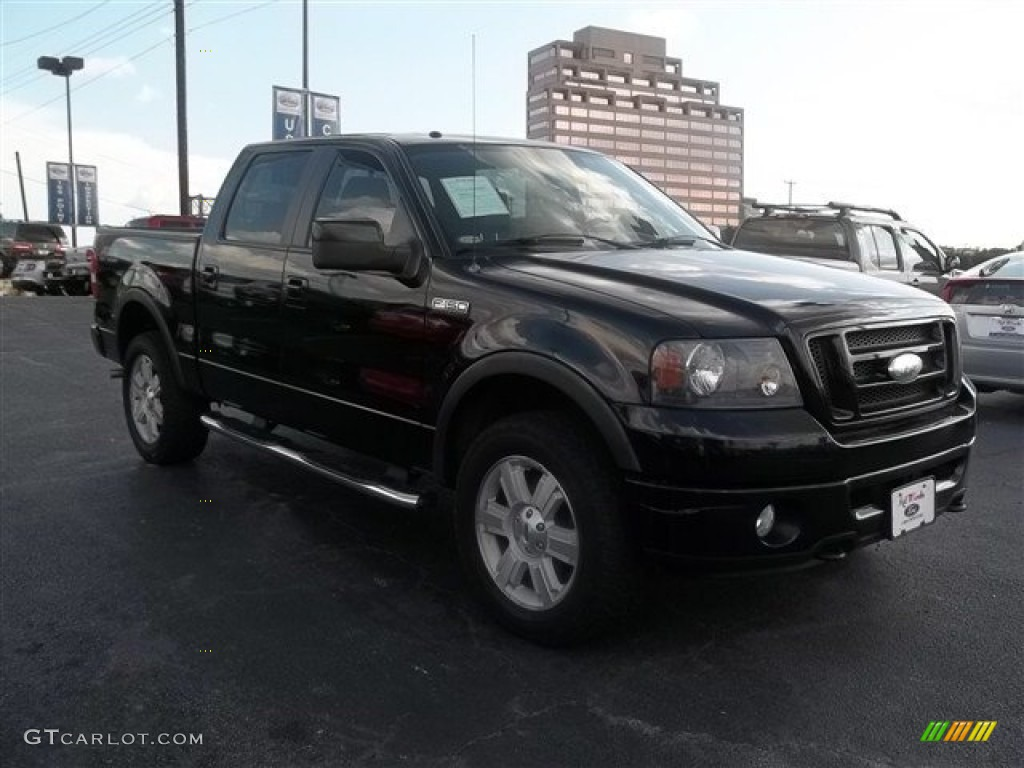 2007 f150 fx4 supercrew 4x4 black black photo 1