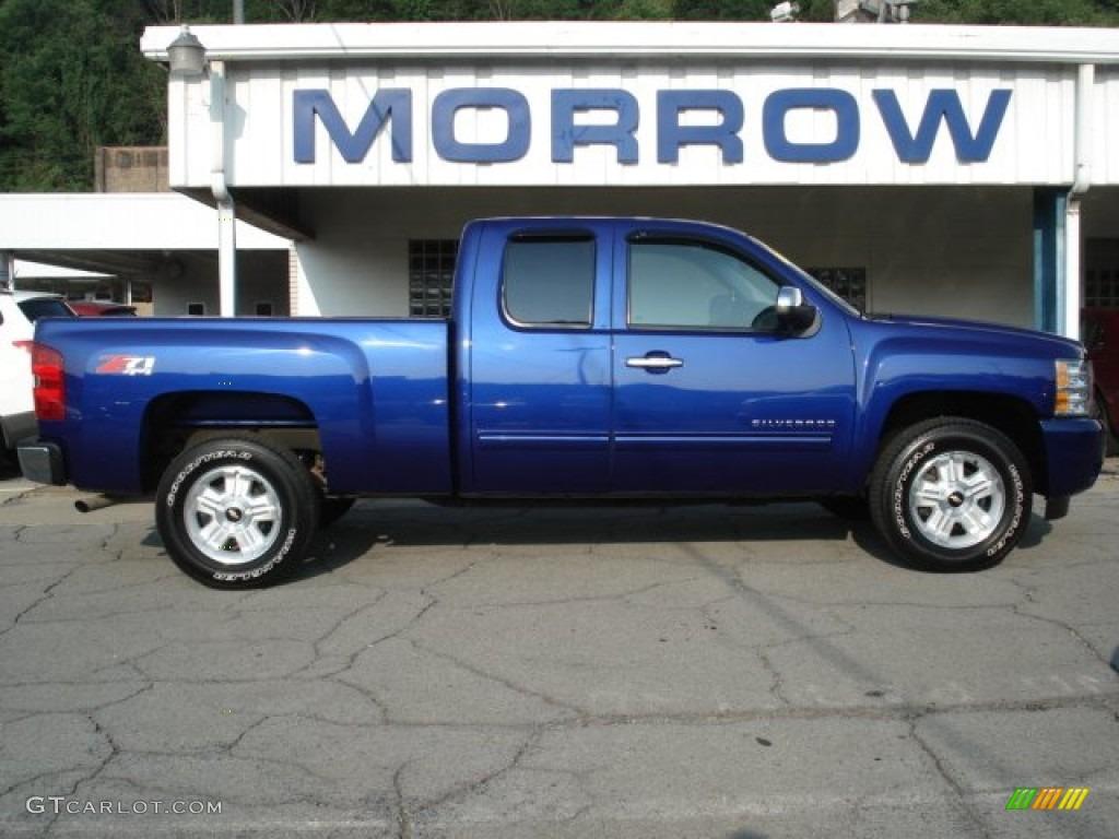 2011 Silverado 1500 LT Extended Cab 4x4 - Laser Blue Metallic / Ebony photo #1