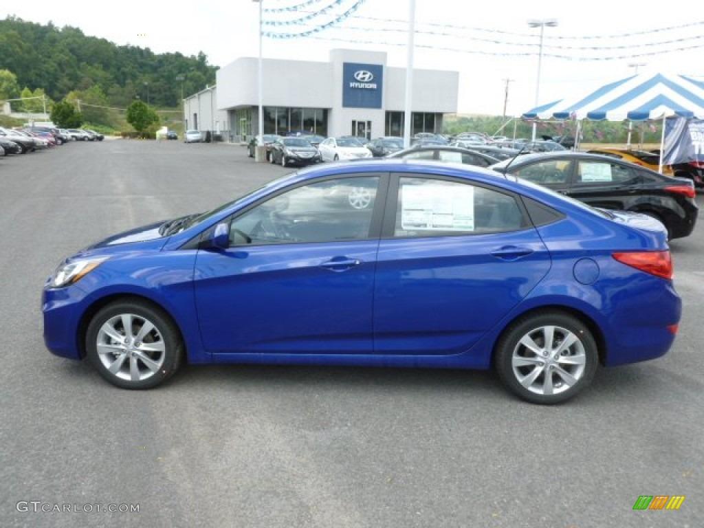 Marathon Blue 2013 Hyundai Accent Gls 4 Door Exterior Photo 68073068 Gtcarlot Com