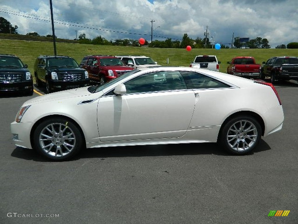 White Diamond Tricoat 2013 Cadillac CTS Coupe Exterior Photo