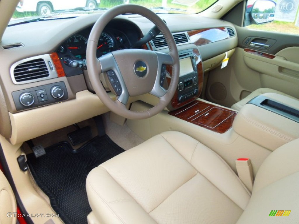 Light Cashmere Dark Cashmere Interior 2013 Chevrolet Tahoe Ltz 4x4