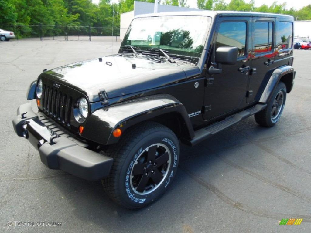 Black 2012 Jeep Wrangler Unlimited Altitude 4x4 Exterior Photo 68090083