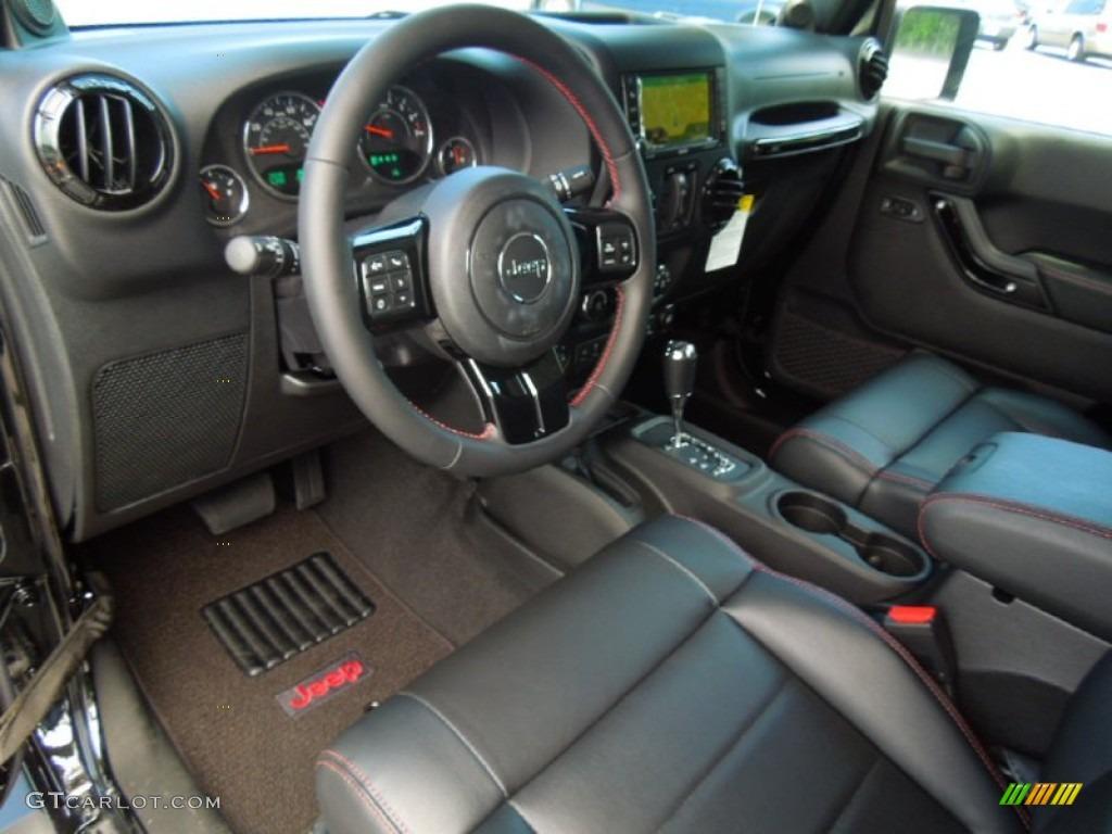 Altitude edition black radar red stitch interior 2012 jeep - 2012 jeep wrangler unlimited interior ...